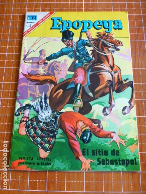 COMIC EPOPEYA EL SITIO DE SEBASTOPOL 104 1967 DE NOVARO (Tebeos y Comics - Novaro - Epopeya)
