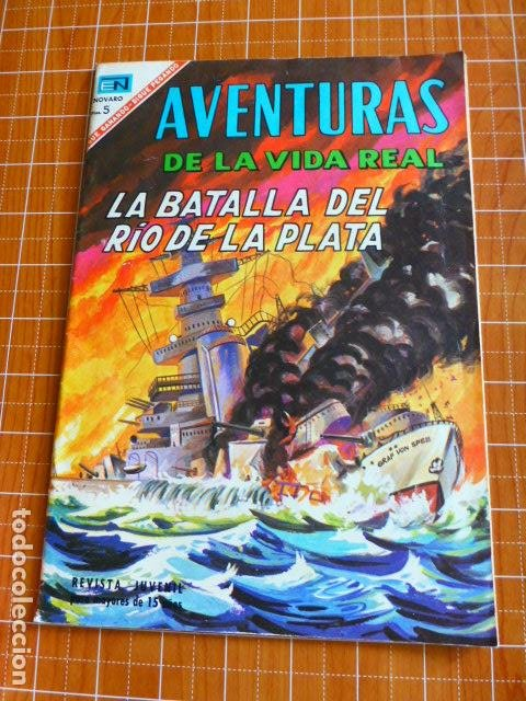 COMIC AVENTURAS DE LA VIDA REAL LA BATALLA DEL RIO DE LA PLATA Nº 135 1967 DE NOVARO (Tebeos y Comics - Novaro - Aventura)