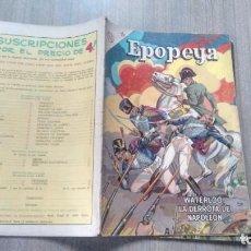 Tebeos: EPOPEYA - NUMERO 69 - WATERLOO, LA DERROTA DE NAPOLEON. Lote 286902708