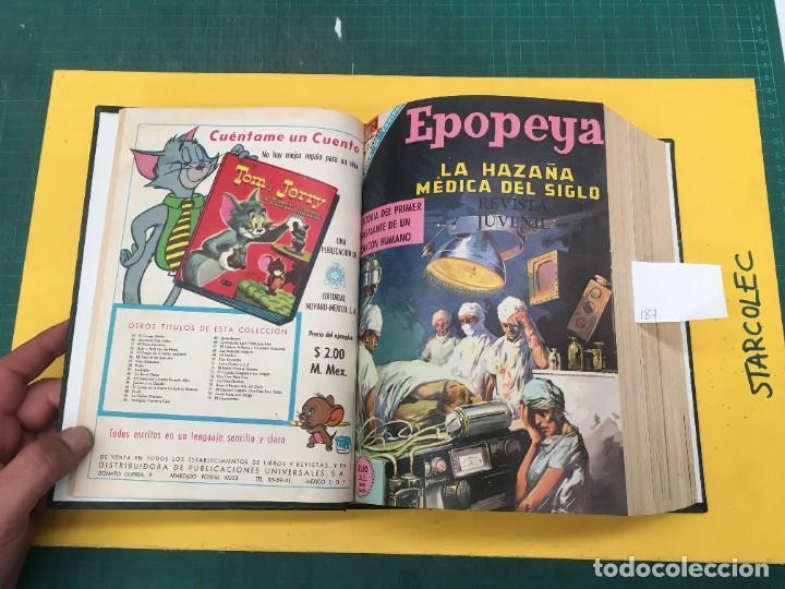 Tebeos: EPOPEYA NOVARO. 1 TOMO DE 27 NUMEROS (VER DESCRIPCION) EDITORIAL NOVARO AÑO 1960-1973 - Foto 3 - 287247558