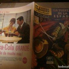 Tebeos: CLASICOS ILUSTRADOS # 111 LA FUERZA DE LA ESPADA G.A. HENTY ED. LA PRENSA MEXICO 1961. Lote 287957828
