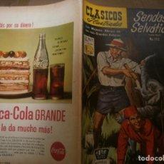 Tebeos: CLASICOS ILUSTRADOS # 112 SENDAS SELVATICAS FRANK BUCK ED. LA PRENSA MEXICO 1961. Lote 287957928