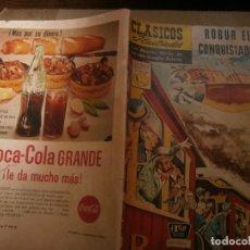 Tebeos: CLASICOS ILUSTRADOS # 118 ROBUR EL CONQUISTADOR JULIO VERNE ED. LA PRENSA MEXICO 1962. Lote 287958483