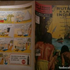 Tebeos: CLASICOS ILUSTRADOS # 134 RUTA A LA INDIA ED. LA PRENSA MEXICO 1964. Lote 287959313