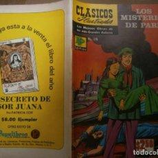Tebeos: CLASICOS ILUSTRADOS #179 LOS MISTERIOS DE PARIS EUGENE SUE ED. LA PRENSA MEXICO 1973. Lote 287960608