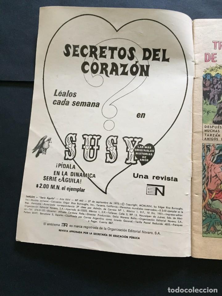 Tebeos: COMIC TARZAN SERIE AGUILA , N° 463 EL DE LAS FOTOS VER TODOS MIS COMICS Y TEBEOS - Foto 2 - 288018368
