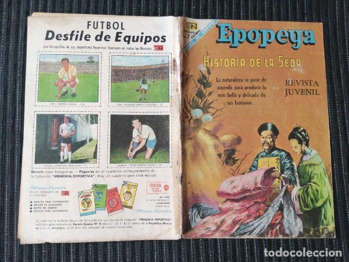 Tebeos: EPOPEYA. HISTORIA DE LA SEDA. NOVARO. REVISTA JUVENIL - Foto 3 - 288022113