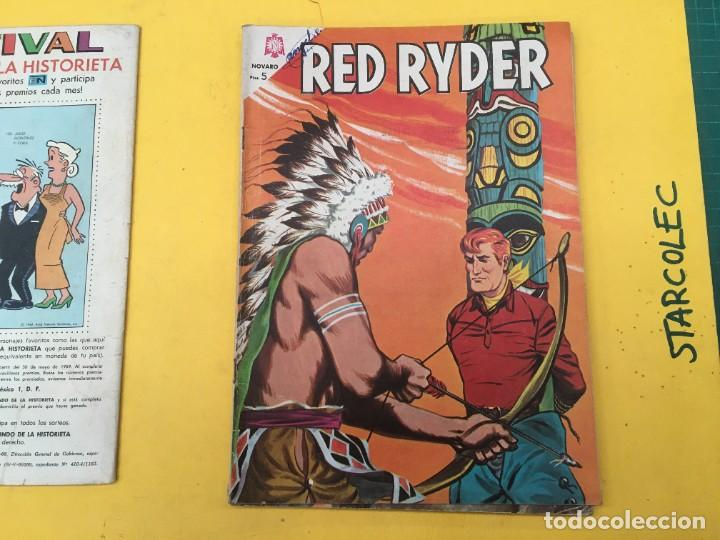 Tebeos: RED RYDER NOVARO, 5 NUMEROS (VER DESCRIPCION) EDITORIAL NOVARO AÑO 1964-1972 - Foto 3 - 288460933