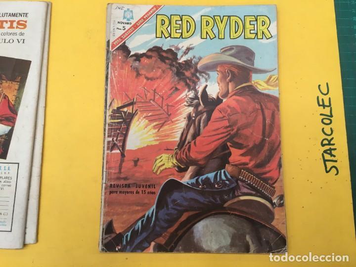 Tebeos: RED RYDER NOVARO, 5 NUMEROS (VER DESCRIPCION) EDITORIAL NOVARO AÑO 1964-1972 - Foto 4 - 288460933