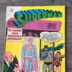 BDs: SUPERMAN Nº 243 EL COMPLOT PARA DESTRUIR A SUPERMAN, EDITORIAL NOVARO, AÑO 1960, EN BUEN ESTADO. Lote 288472438
