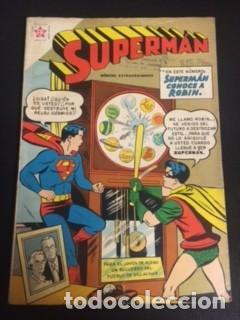 SUPERMAN Nº EXTRAORDINARIO, SUPERMAN CONOCE A ROBÍN, EDITORIAL NOVARO 1959 (Tebeos y Comics - Novaro - Superman)