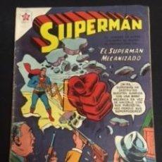 Tebeos: SUPERMAN Nº 141 EL SUPERMAN MECANIZADO, EDITORIAL NOVARO, AÑO 1958, EN BUEN ESTADO. Lote 288580763