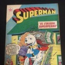 Tebeos: SUPERMAN Nº 254 EL COLOSAL SUPERPERRO, EDITORIAL NOVARO, AÑO 1960, EN BUEN ESTADO. Lote 288582268