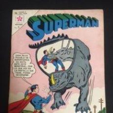 Tebeos: SUPERMAN Nº 416 EL SECRETO DE LA JUNGLA ESCARLATA, EDITORIAL NOVARO, AÑO 1963, EN BUEN ESTADO. Lote 288583668