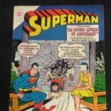 Tebeos: SUPERMAN Nº 245 LA FUTURA ESPOSA DE SUPERMAN, EDITORIAL NOVARO, AÑO 1960, EN BUEN ESTADO. Lote 288584418