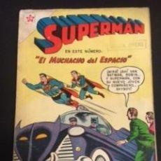 Tebeos: SUPERMAN Nº 153 EL MUCHACHO DEL ESPACIO, EDITORIAL NOVARO, AÑO 1958, EN BUEN ESTADO. Lote 288584433