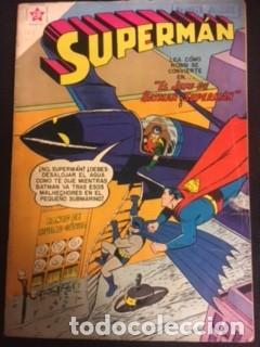 SUPERMAN Nº 160 EL JEFE DE BATMAN Y SUPERMAN, EDITORIAL NOVARO, AÑO 1958, EN BUEN ESTADO (Tebeos y Comics - Novaro - Superman)
