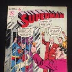 Tebeos: SUPERMAN Nº 426 CUANDO SUPERMAN PERDIÓ SUS PODERES, EDITORIAL NOVARO, AÑO 1963, EN BUEN ESTADO. Lote 288584503