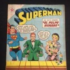 Tebeos: SUPERMAN Nº 276 EL PULPO HUMANO, EDITORIAL NOVARO, AÑO 1961, EN BUEN ESTADO. Lote 288584658