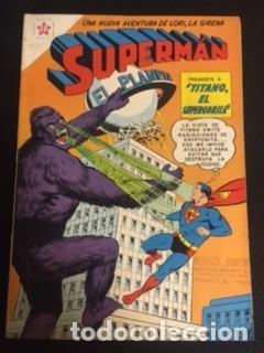 SUPERMAN Nº 287 TITANO EL SUPERGORILA, EDITORIAL NOVARO, AÑO 1961, EN BUEN ESTADO (Tebeos y Comics - Novaro - Superman)