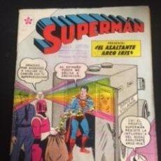 Tebeos: SUPERMAN Nº 301 EL ASALTANTE ARCO IRIS, EDITORIAL NOVARO, AÑO 1961, EN BUEN ESTADO. Lote 288585378