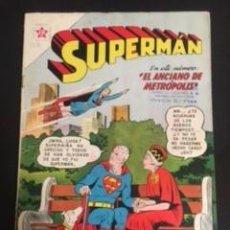 Tebeos: SUPERMAN Nº 325 EL ANCIANO DE METROPOLIS, EDITORIAL NOVARO, AÑO 1962, EN BUEN ESTADO. Lote 288585753