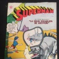 Tebeos: SUPERMAN Nº 319 LA SELVA ESCARLATA DE KRYPTON, EDITORIAL NOVARO, AÑO 1961, EN BUEN ESTADO. Lote 288585778