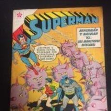BDs: SUPERMAN Nº 275 SUPERMAN Y BATMAN VS. LOS MONSTRUOS, EDITORIAL NOVARO, AÑO 1961, EN BUEN ESTADO. Lote 288586858