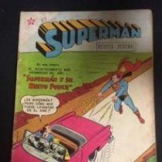 Tebeos: SUPERMAN Nº 145 SUPERMAN Y SU NUEVO PODER, EDITORIAL NOVARO, AÑO 1958, EN BUEN ESTADO. Lote 288587093