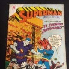 Tebeos: SUPERMAN Nº 163 EL ENEMIGO INVULNERABLE, EDITORIAL NOVARO, AÑO 1958, EN BUEN ESTADO. Lote 288587188