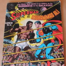 Tebeos: SUPERMAN VS. MUHAMMAD ALÍ - NOVARO AÑO 1978, GRAN FORMATO 35 X 25,5 CM, COLOR - BUEN ESTADO. Lote 288614288