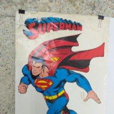 Tebeos: ANTIGUO POSTER DC COMICS SUPERMAN EDITORIAL NOVARO VINTAGE AÑOS 1979. Lote 289200483