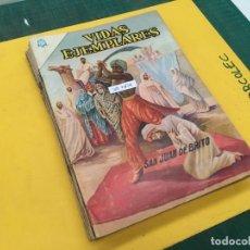 Tebeos: VIDAS EJEMPLARES NOVARO, 13 NUMEROS (VER DESCRIPCION) EDITORIAL NOVARO AÑO 1964-1969. Lote 289545468