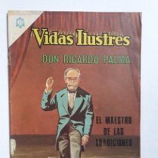 Tebeos: VIDAS ILUSTRES N° 130 - DON RICARDO PALMA - ORIGINAL EDITORIAL NOVARO. Lote 289592028