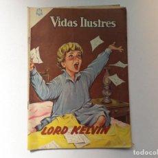 Tebeos: VIDAS ILUSTRES N° 115 - LORD KEVIN - ORIGINAL EDITORIAL NOVARO. Lote 289593763