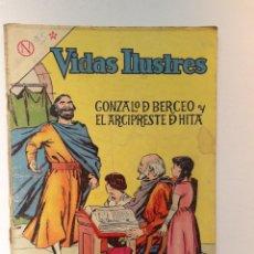 Tebeos: VIDAS ILUSTRES N° 95 - GONZALO D BERCEO Y EL ARCIPRESTE D HITA - ORIGINAL EDITORIAL NOVARO. Lote 289594798