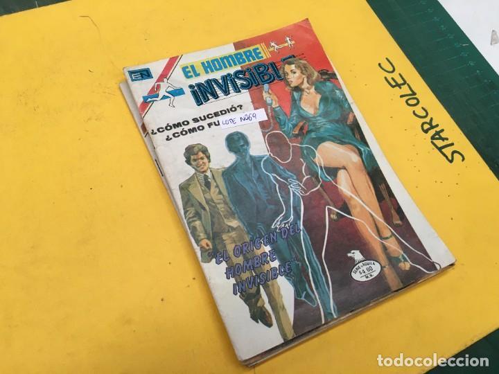 EL HOMBRE INVISIBLE SERIE AGUILA NOVARO, 14 NUMEROS (VER DESCRIPCION) E. NOVARO AÑO 1979-1979 (Tebeos y Comics - Novaro - Otros)