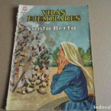 Tebeos: NOVARO VIDAS EJEMPLARES Nº 218 SANTA BERTA 1966. Lote 293204468