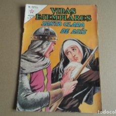 Tebeos: NOVARO VIDAS EJEMPLARES Nº 160 SANTA CLARA DE ASIS -1963. Lote 293208793
