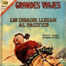 Tebeos: GRANDES VIAJES-49: LOS COSACOS LLEGAN AL PACÍFICO (N0VARO, MÉXICO 1967). Lote 294066393
