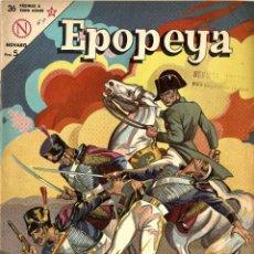 Tebeos: EPOPEYA Nº 69: WATERLOO LA DERROTA DE NAPOLEÓN (NOVARO, MÉXICO, 1964). Lote 294075713