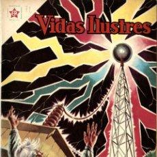Tebeos: TESLA INVENTOR DEL SIGLO XX. VIDAS ILUSTRES Nº 71 (ER-NOVARO, MÉXICO, 1961). Lote 294143228