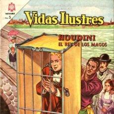 Tebeos: HOUDINI EL REY DE LOS MAGOS. VIDAS ILUSTRES Nº 104 (NOVARO, MÉXICO, 1964). Lote 294144423