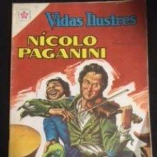 Tebeos: VIDAS ILUSTRES Nº77 NICOLO PAGANINI EDITORIAL NOVARO AÑO 1962 EN BUEN ESTADO. Lote 294461918