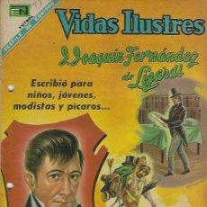 Tebeos: VIDAS ILUSTRES - NOVARO MEXICO # 193 1-SEP.-1968 JOSÉ JOAQUÍN FERNANDEZ DE LIZARDI. Lote 295584243