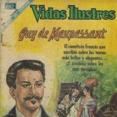 Tebeos: VIDAS ILUSTRES - NOVARO MEXICO # 197 1-NOV.-1968 GUY DE MAUPASSANT. Lote 295585438