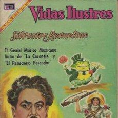 Tebeos: VIDAS ILUSTRES - NOVARO MEXICO # 208 15-ABR.-1969 SILVESTRE REVUELTAS. Lote 295586433
