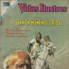 Tebeos: VIDAS ILUSTRES - NOVARO MEXICO # 215 1-AGO.-1969 RAMÓN MENENDEZ PIDAL. Lote 295586988