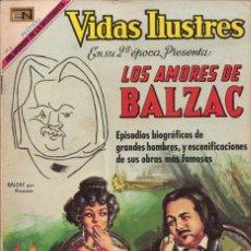 Tebeos: VIDAS ILUSTRES - NOVARO MEXICO # 219 1-OCT.-1969 BALZAC, LOS AMORES DE. Lote 295587348