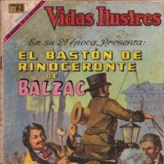 Tebeos: VIDAS ILUSTRES - NOVARO MEXICO # 221 1-NOV.-1969 BALZAC, EL BASTÓN DE RINOCERONTE DE. Lote 295587453